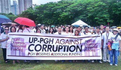Interns and Residents at the PDAF Rally