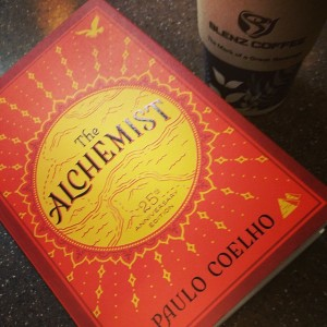 "The 25th Anniversary Limited Edition copy of ""The Alchemist"" by Paolo Coelho"